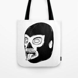 Black Luchador Tote Bag