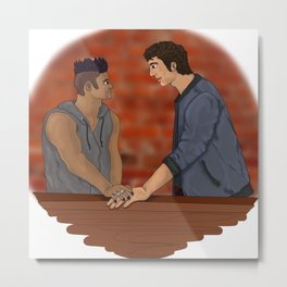 Malec on the Balcony Metal Print