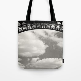 Black Lace of Eiffel Tower Tote Bag
