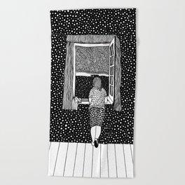 Salvador Dalí - Girl in the window Beach Towel
