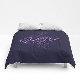 Queer Violets Comforters
