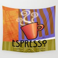 bar Wall Tapestries featuring EXPRESSO BAR by Cheryl Daniels