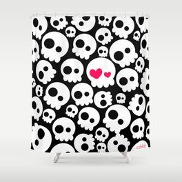 A skull in love Shower Curtain