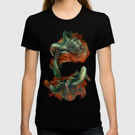 """Betta splendens Deep water (Siam fighter)"" T-shirt"