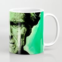clint eastwood Mugs featuring Clint Eastwood by Jason Hughes