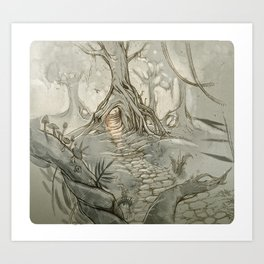 Drawings a Forest Art Print