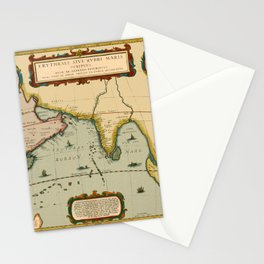 Map Of Indian Ocean 1662 Stationery Cards
