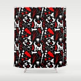 Dirty Boys Pattern Shower Curtain