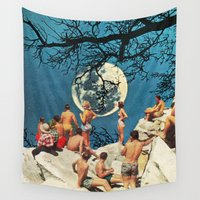 the moon Wall Tapestries featuring Moon by Ben Giles