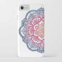 bedding iPhone & iPod Cases featuring Radiant Medallion Doodle by micklyn