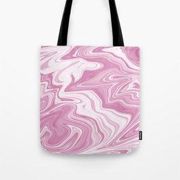 Pink Liquid Marble Tote Bag