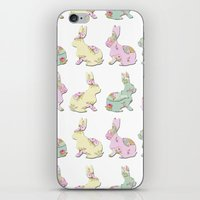 rabbits iPhone & iPod Skins featuring Rabbits by Camille Medina