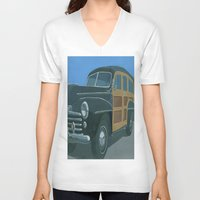 woody V-neck T-shirts featuring Woody by Gerry High