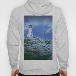 Lighthouse at Peggy's Cove in the Moonlight Hoody