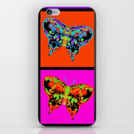 Psychedelic Butterflies Mosaic iPhone Skin