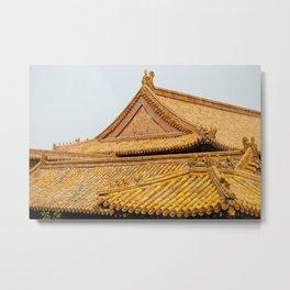 Temple Roof Metal Print