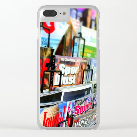 Magazine Stand Clear iPhone Case