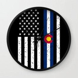 Colorado American Flag Gift US Denver Souvenir Wall Clock