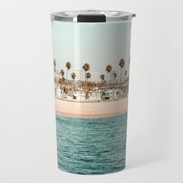 Vintage Newport Beach Print {1 of 4} | Photography Ocean Palm Trees Teal Tropical Summer Sky Travel Mug