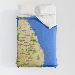 Sri Lanka Map Design Comforters