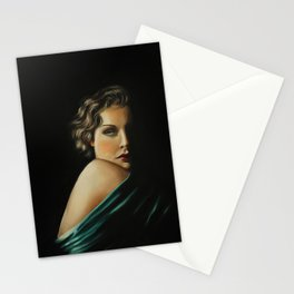 Vintage style portrait , Madge Stationery Cards