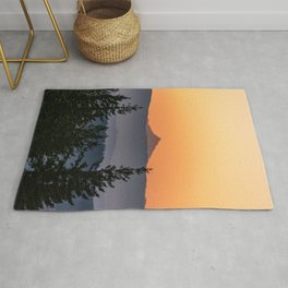 Mount Jefferson Morning - Nature Photography Rug