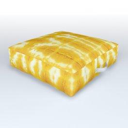 Yellow Linen Shibori Stripe Outdoor Floor Cushion