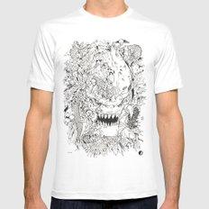 Predator doodle White Mens Fitted Tee MEDIUM