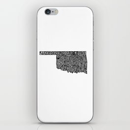 Typographic Oklahoma iPhone Skin