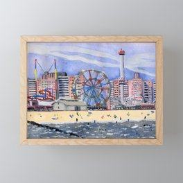 Coney Island Framed Mini Art Print