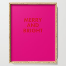 may your days be merry and bright Serving Tray