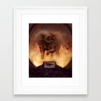 kaiju Framed Art Prints featuring Kaiju by Anneliese Mak