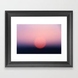 blurry sundown [sky series] Framed Art Print