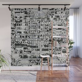 Confused Images Behind the Interface (P/D3 Glitch Collage Studies) Wall Mural