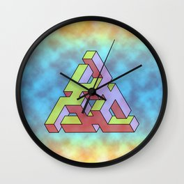 Triforce Abstract Triangle Wall Clock