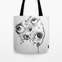 the thing Tote Bags featuring Thing by Isabel Moffly
