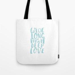 LOVE inifinite - BLUE Tote Bag