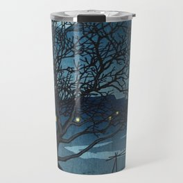 Kawase Hasui - Evening in Beppu in the cold Season - Japanese Vintage Woodblock Painting Travel Mug