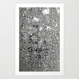Silvery Glass and Mirrors Art Print