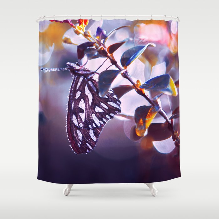 Silver Wings Shower Curtain