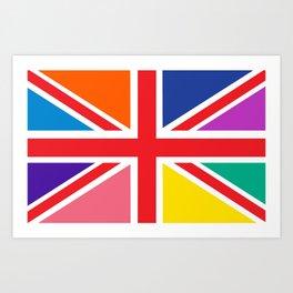 Rainbow Union Jack Art Print