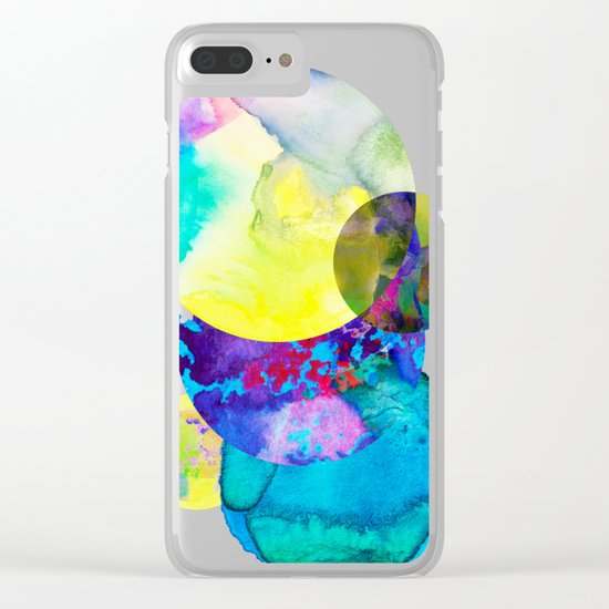 Abstract 2 Clear iPhone Case