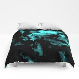 Teal and Black Comforters