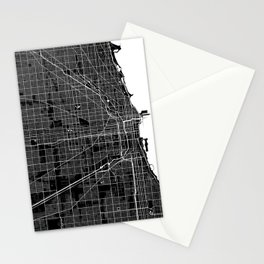 Chicago - Minimalist City Map Stationery Cards