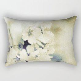 Yellow Green Vintage Cherry Flowers Rectangular Pillow