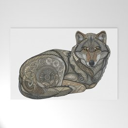 Norse Wolf Welcome Mat