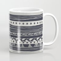 aztec Mugs featuring aztec by spinL