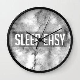 Sleep Easy Marble Mantra Wall Clock
