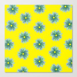 Geo Spring Flowers 02 Canvas Print