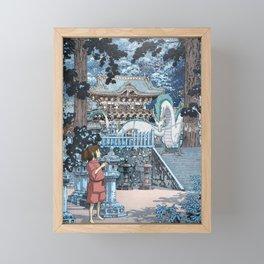 Haku and Chihiro at the Shrine Framed Mini Art Print